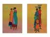 Afrikanske kvinder i marken 20x30